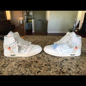 Nike Off white air Jordan 1 White UA